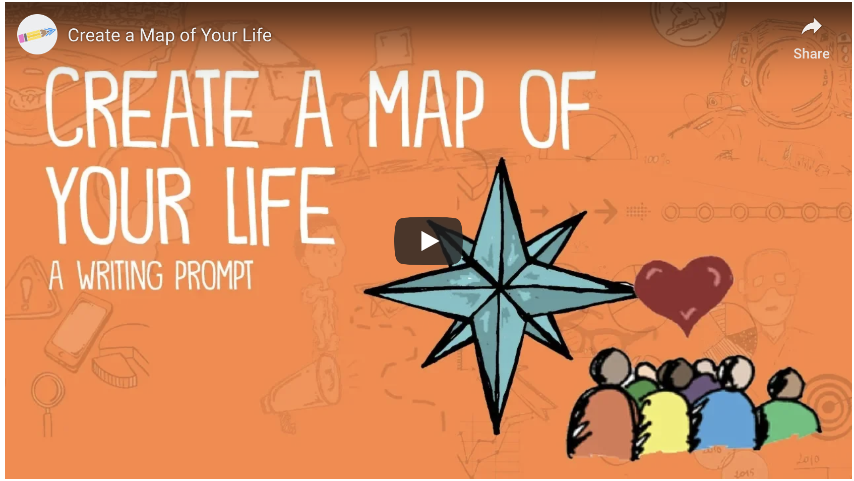 Create a Map of Your Life – Video Writing Prompts